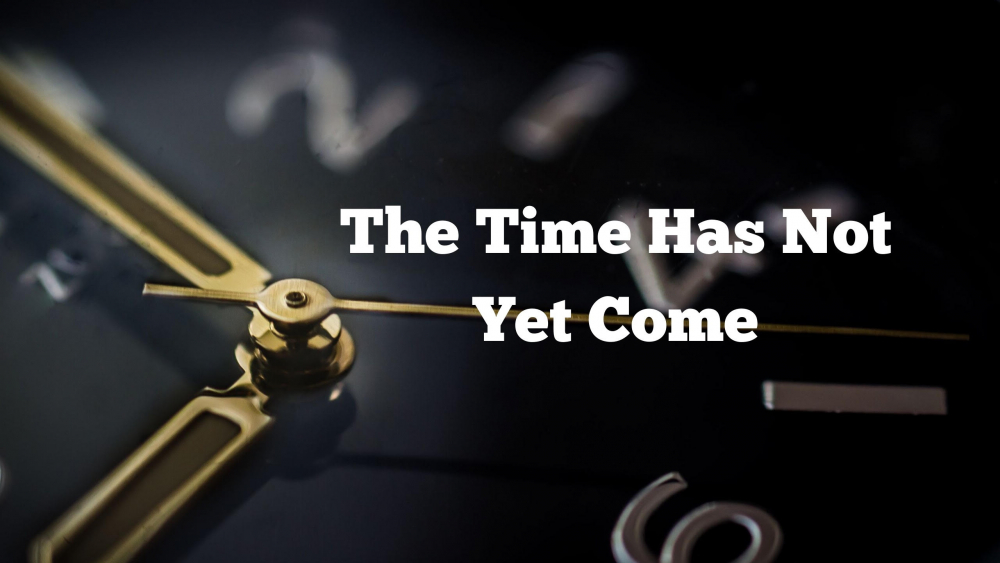 The Time Has Not Yet Come Image
