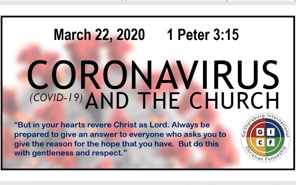 Coronavirus and the Church Response Image