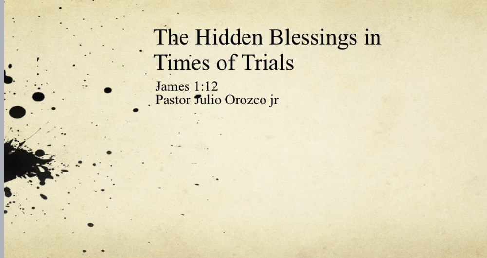 The Hidden Blessings in Times of Trials Image