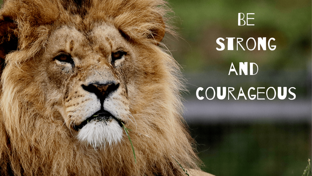 Be Strong and Courageous Image