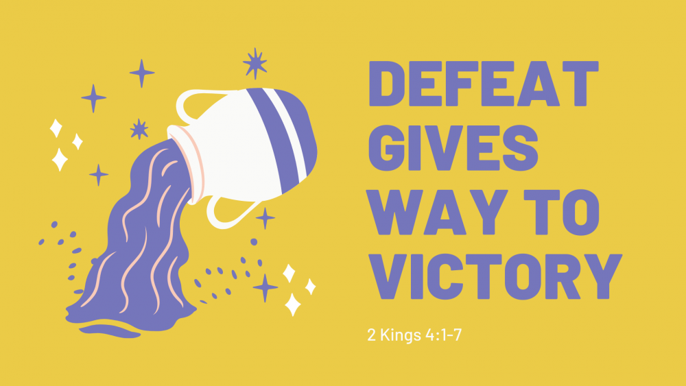 Defeat Gives Way to Victory Image