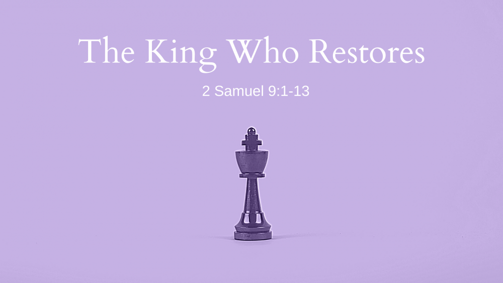 The King Who Restores Image