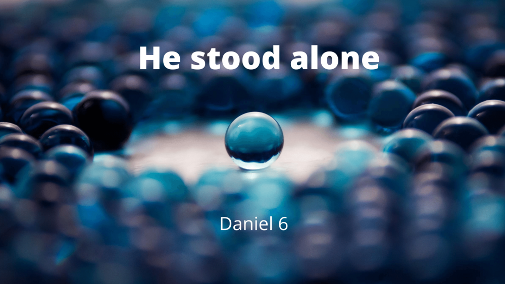 He Stood Alone Image