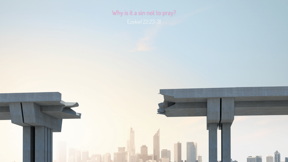 Why is it a sin not to pray? Image