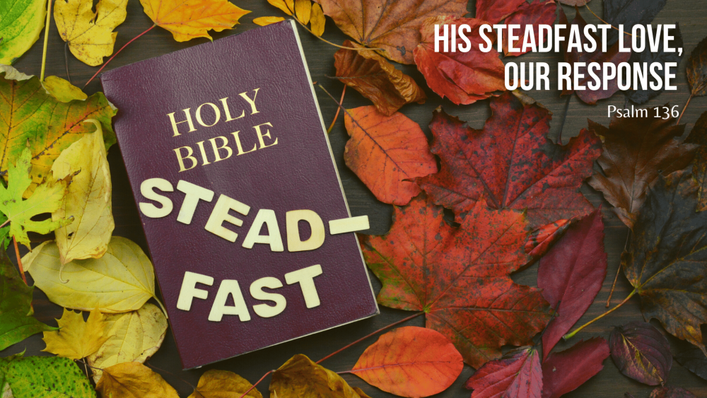 His Steadfast Love, Our Response Image